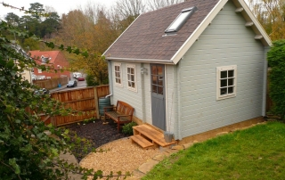 The poshest shed in the neighbourhood!