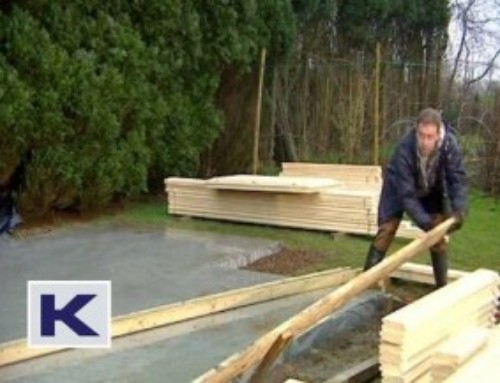 How to build a concrete base for your log cabin