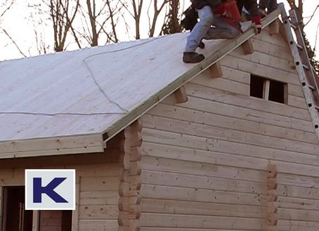 Fitting Log Cabin Roof Insulation
