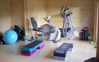 Log cabin home gym