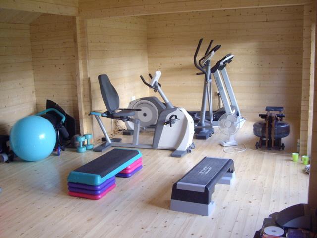 Log cabin home gym