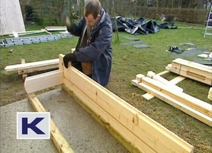 Building up the balustrade walls