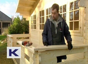 Finishing off the balustrade
