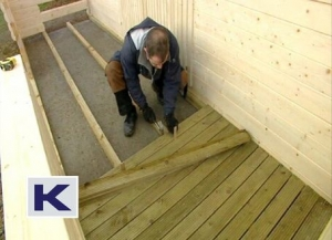Laying the decking floor