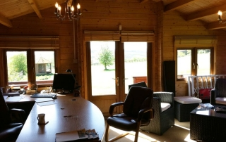 A log cabin will make a fabulous home or garden office (with fantastic views too!)