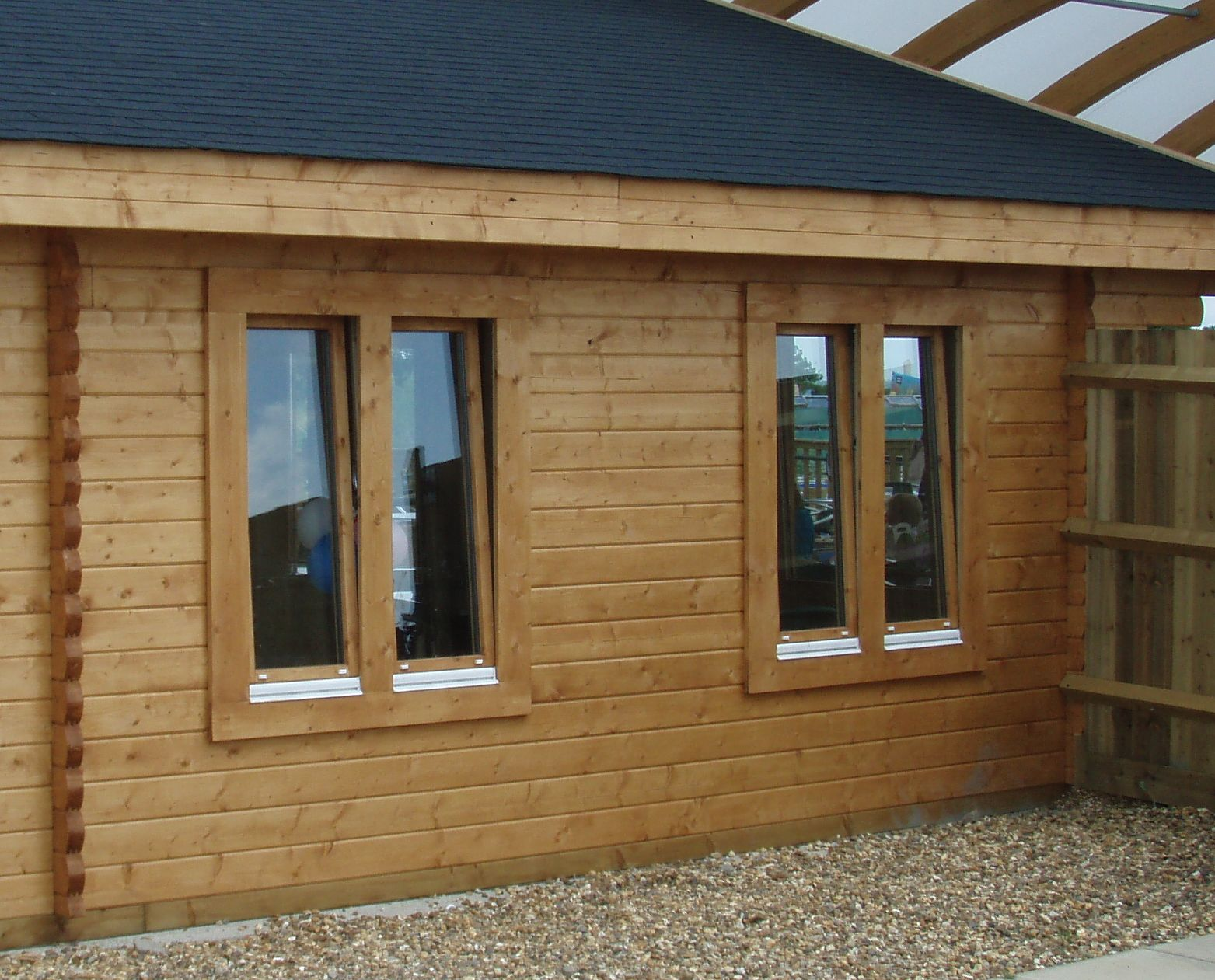 New 3 Panel Bi Fold Door Keops Interlock Log Cabins