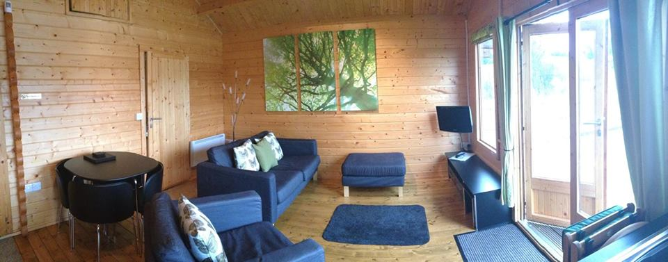 Living area in the fishing lodge