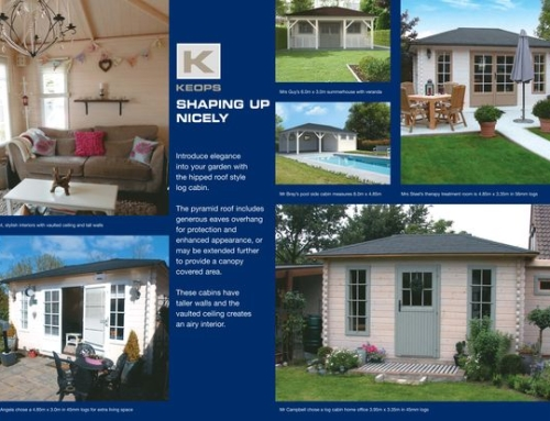 Our new pyramid roof log cabin brochure is out now!