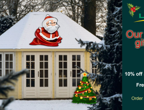 Lugarde Christmas Sale – 10% off all garden buildings or free factory finish!