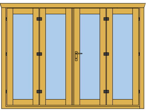 New 4 panel bi-fold door for Keops log cabins