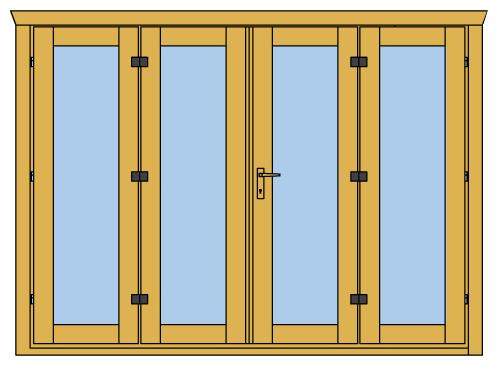 4 Panel Folding Doors