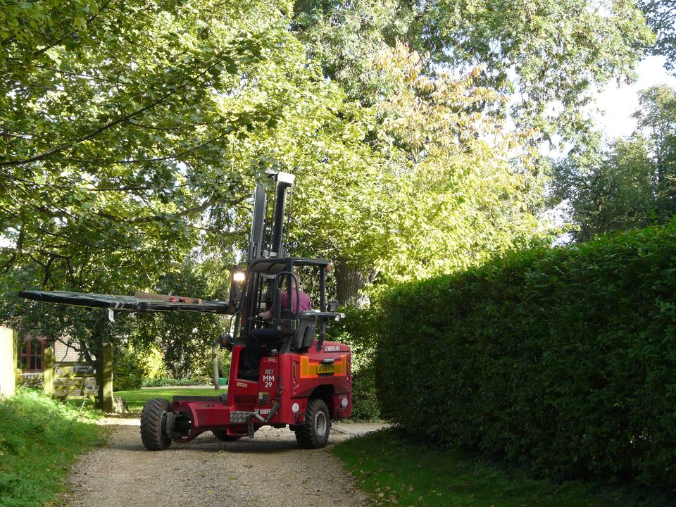 Avoiding the trees - delivering the log cabin