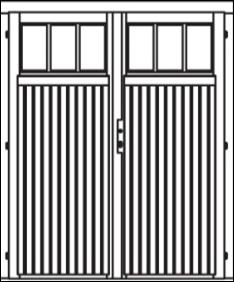 VDD13 comfort double door 1/3 glazed