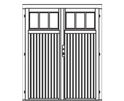 VDD13 comfort double door 1/3 glazed