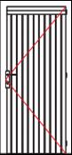 VDE00 single solid door