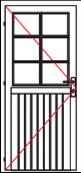 VDE12A comfort single door left hinged
