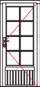 VDE34 comfort single door
