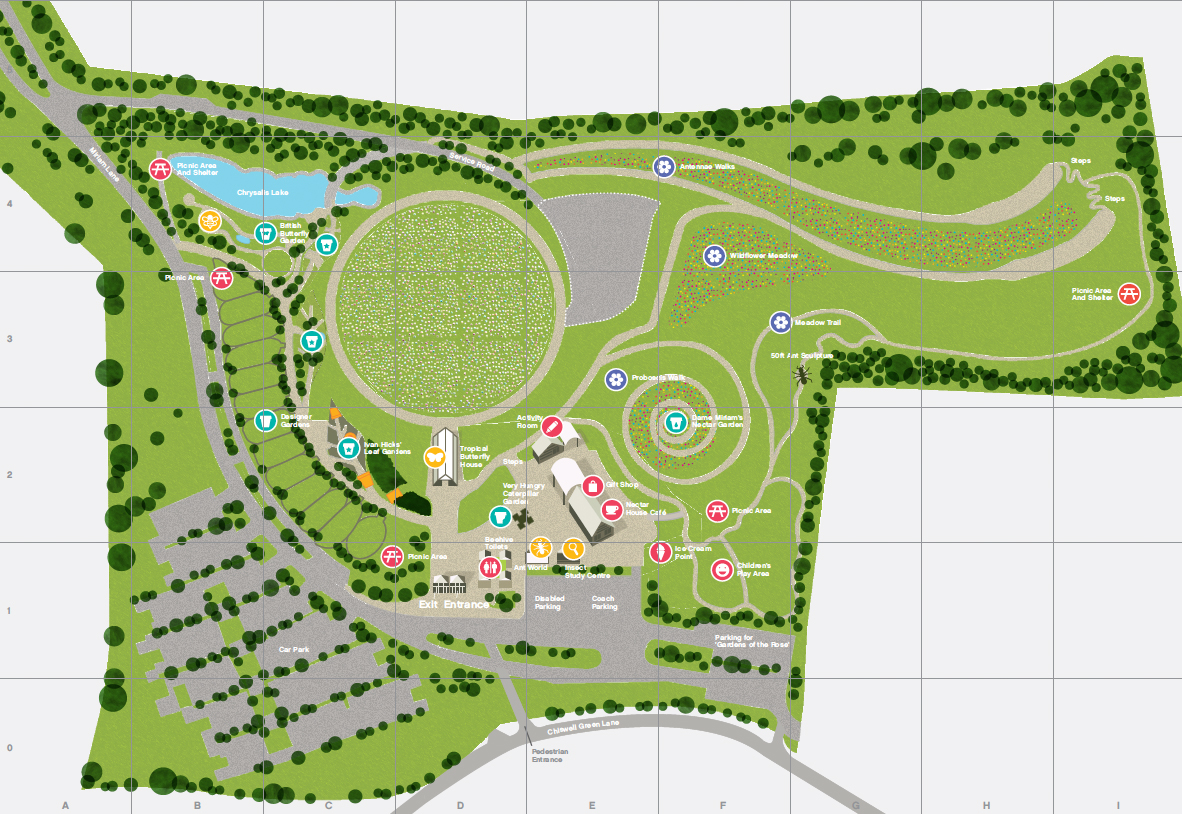 Site map of Butterfly World