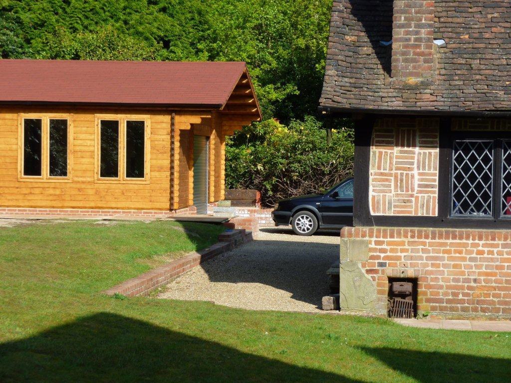 Keops Classic style log cabin garage
