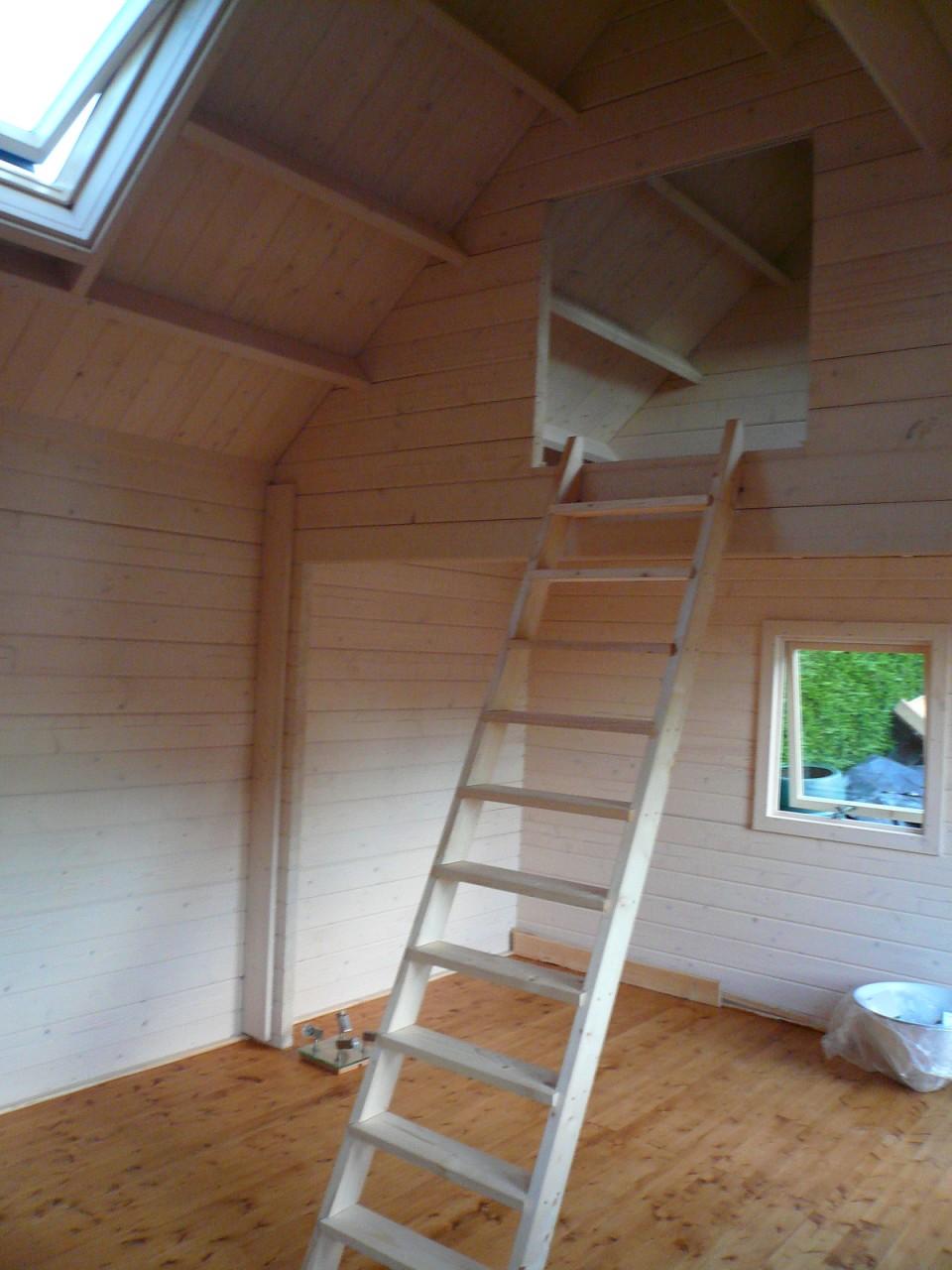 Loft Area Amp Ladder Keops Interlock Log Cabins