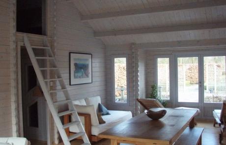 Loft ladder in Evesham cabin