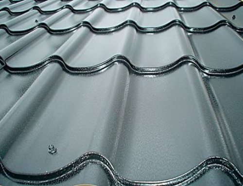 Metal pantile roofing
