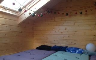 Inside the loft space