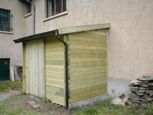 Log cabin pressure treatment