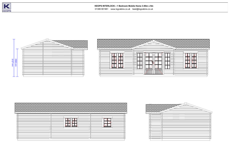 Redwing mobile home/caravan elevation drawings