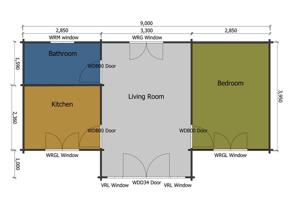 Redwing mobile home/caravan floor plan