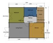 Dove mobile home/caravan floor plan