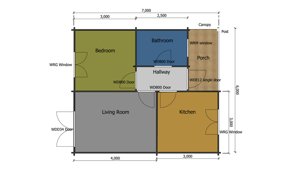 Dove mobile home/caravan floor plan