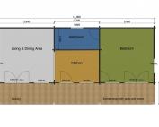 Goldfinch mobile home/caravan floor plan
