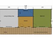 Bullfinch mobile home/caravan floor plan