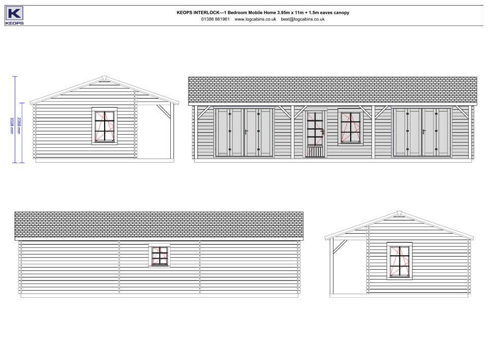 Bullfinch mobile home/caravan elevation drawings