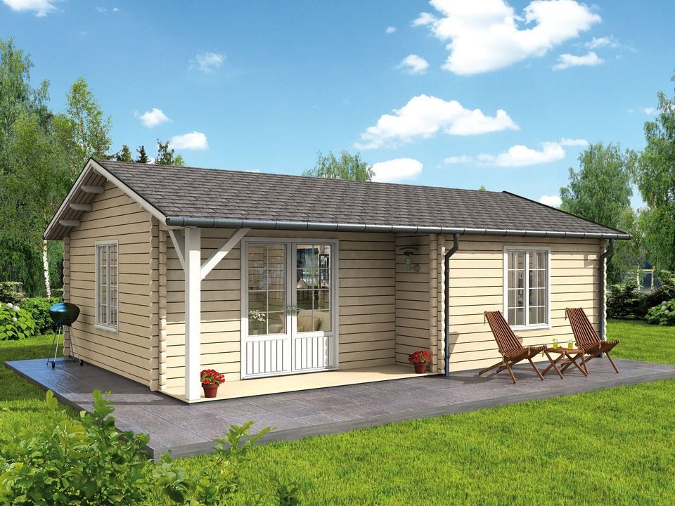 Skylark log cabin caravan/mobile home 1 bedroom and porch