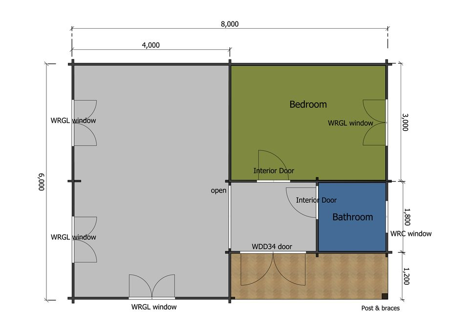 Nuthatch mobile home/caravan floor plan