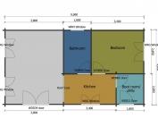 Wagtail mobile home/caravan floor plan