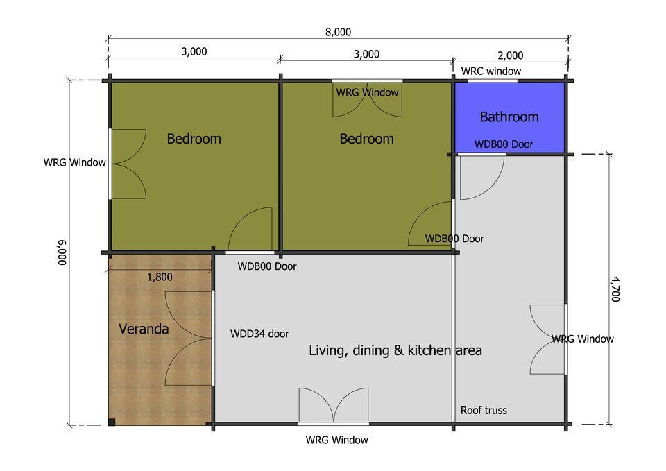 Dipper mobile home/caravan plan