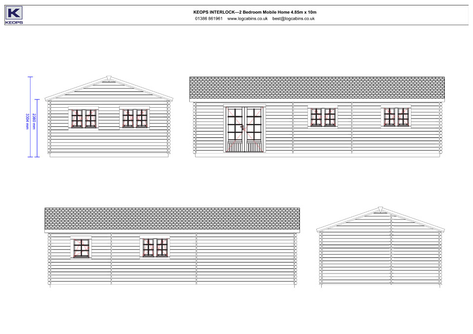 Turnstone mobile home/caravan elevation drawings