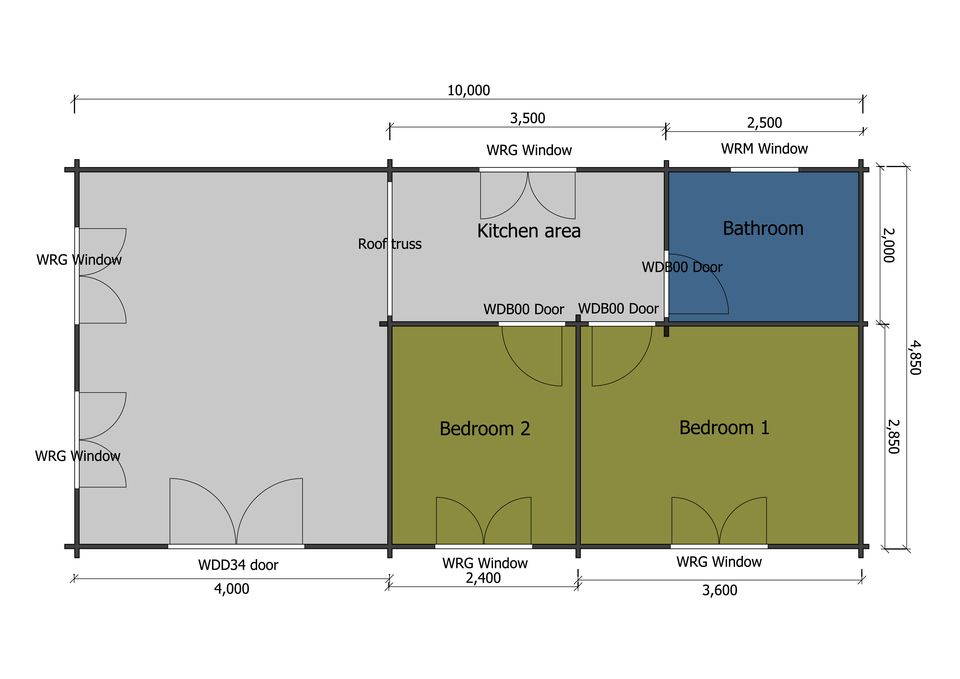 Turnstone mobile home/caravan plan