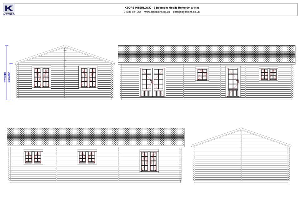 Avocet mobile home/caravan elevation drawings