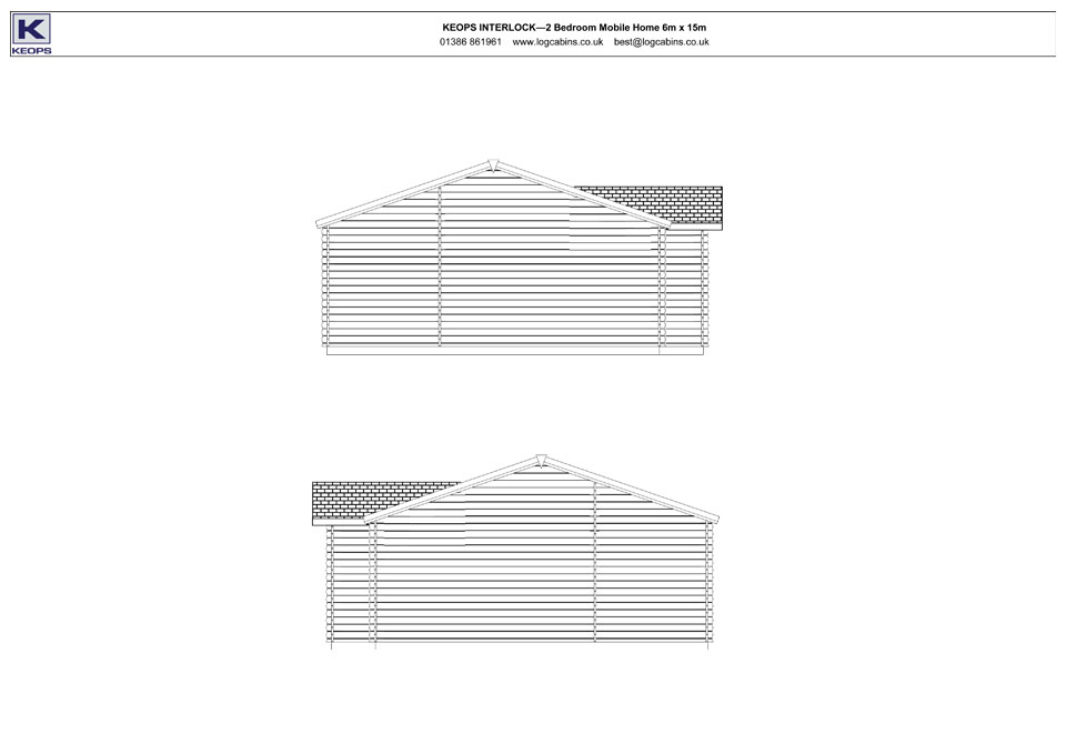 Redshank mobile home/caravan elevation drawings