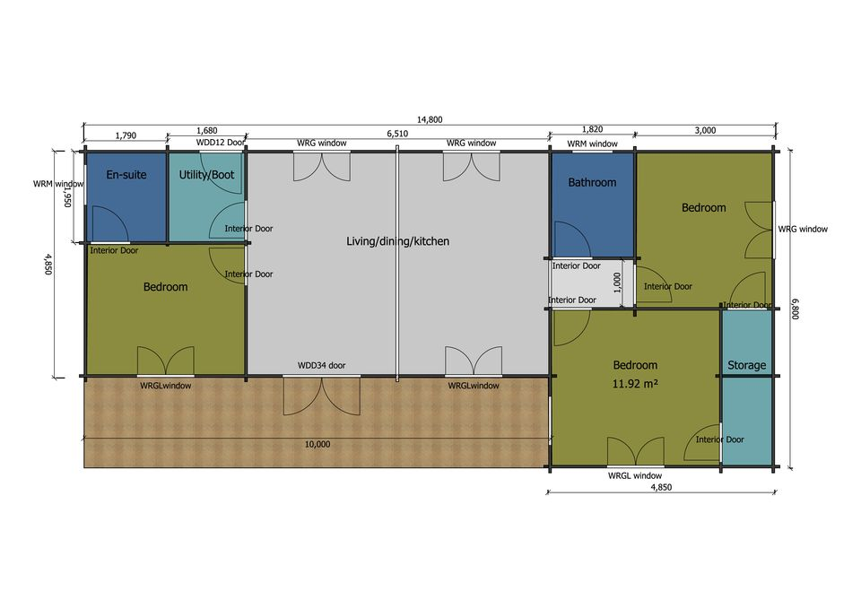 Hobby mobile home/caravan floor plan
