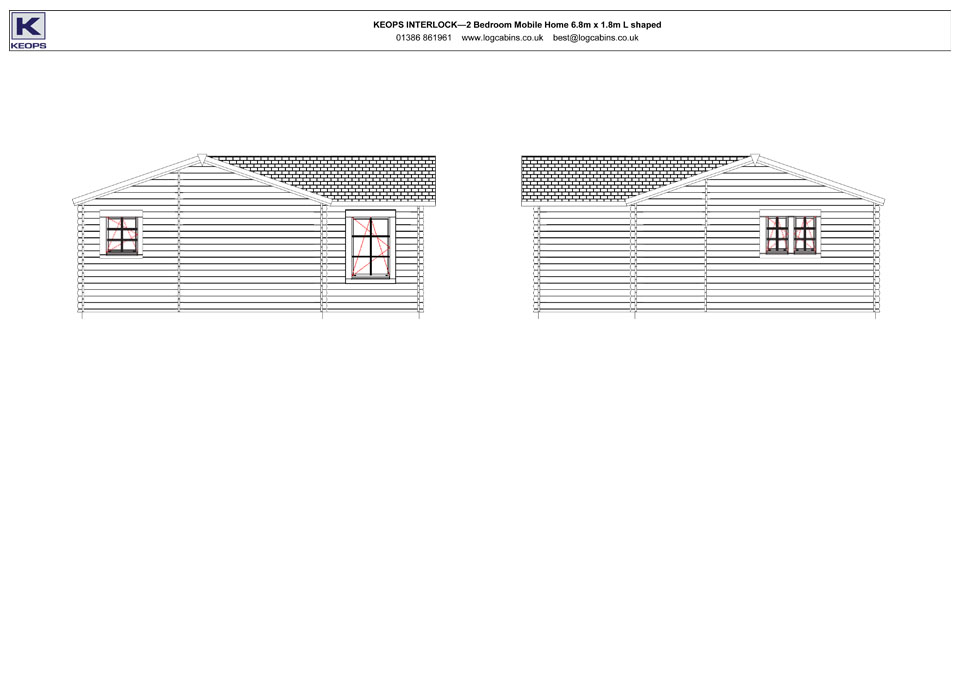 Hobby mobile home/caravan side elevation drawings