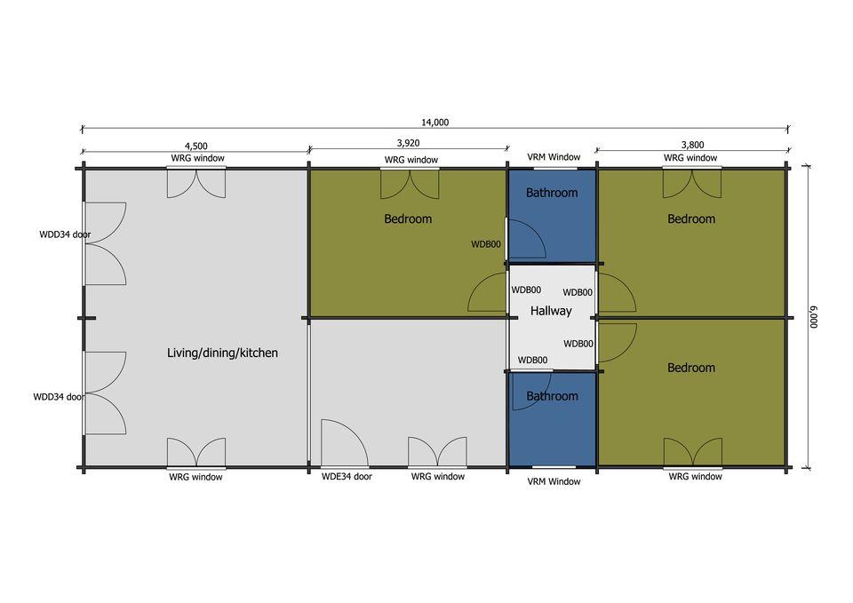Peregrine mobile home/caravan floor plan