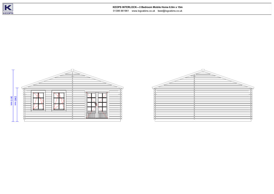 Falcon mobile home/caravan side elevation drawings