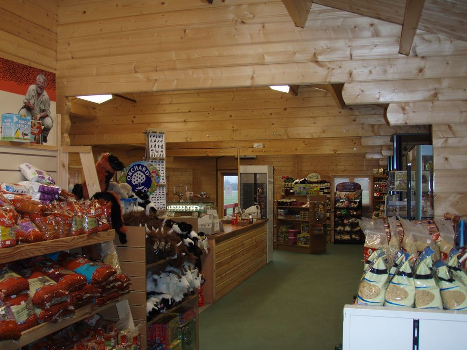 Spacious shop area in the visitor centre