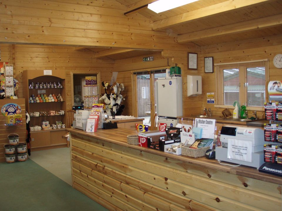 The log cabin makes an excellent shop