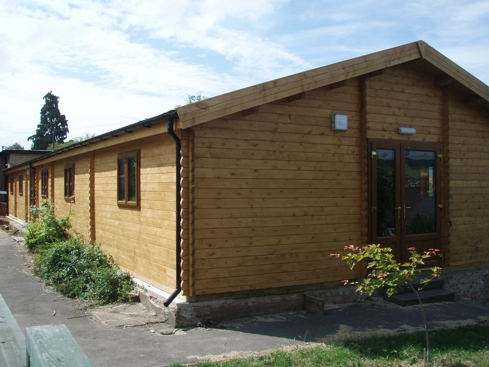 Log cabin school classroom